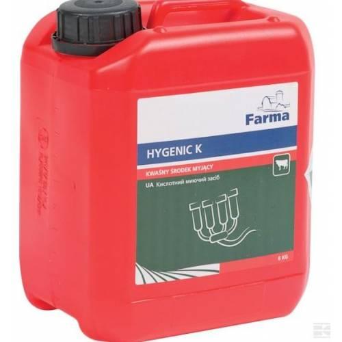 Kwaśny środek myjący Higienic K Farma. 6 kg