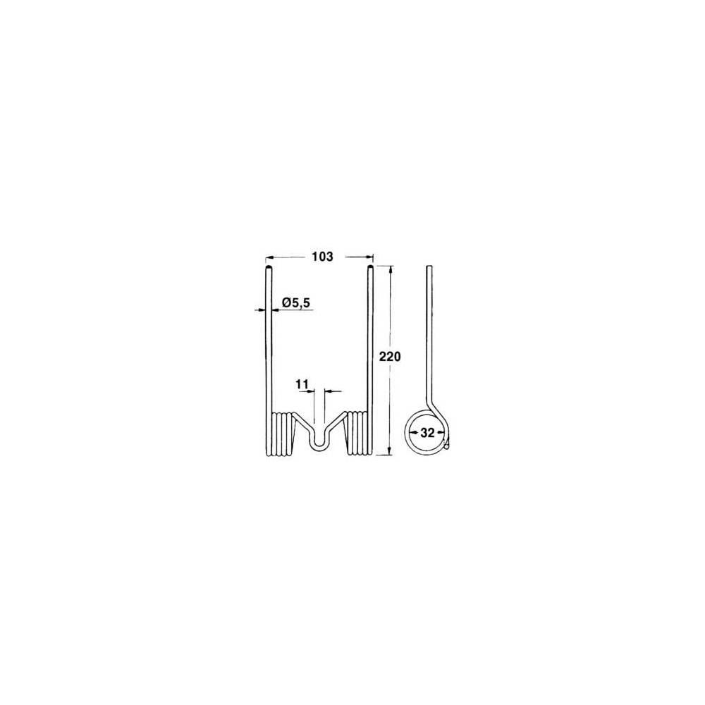 JAG57-0017 Sprężyna podbieracza PRASY MF