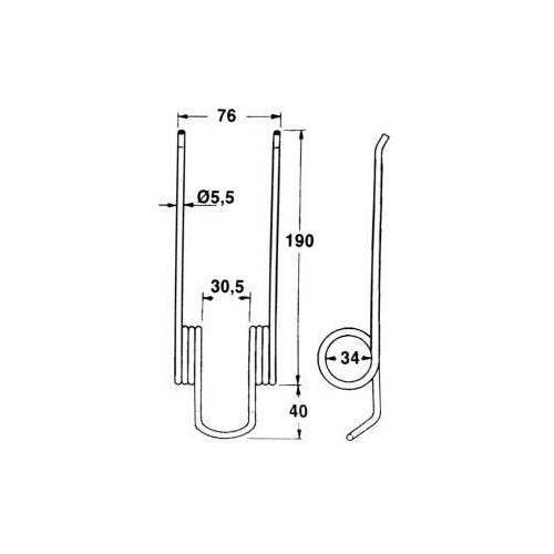 Palec podbieracza Bautz COMPACT 410.460 JAG57-0001