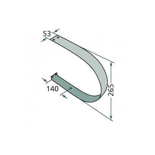 Osłona podbieracza 845 x 53 ( 7115310)
