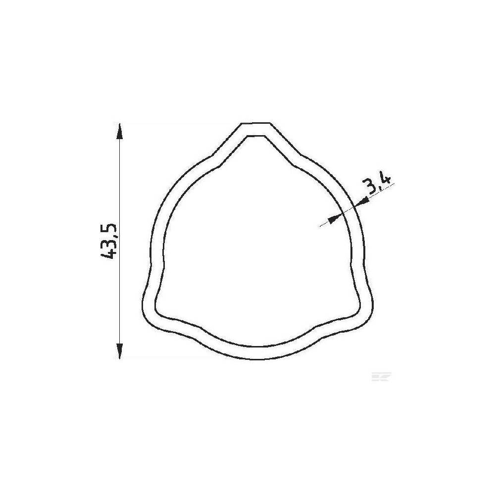 Rura zewnętrzna Comer seria T40. L- 865
