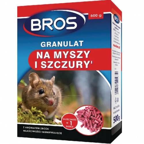 Granulat na myszy i szczury 500g BROS