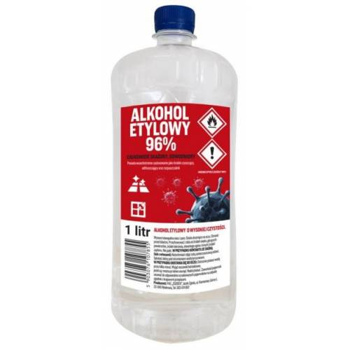 ALKOHOL ETYLOWY SKAŻONY 96% 1L
