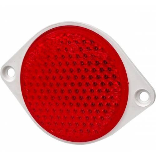Odblask okrągły przykręcany czerwony