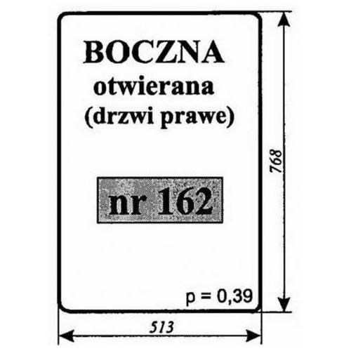 SZYBA OKNA OTWIERANA T-25 162