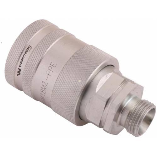 Szybkozłącze hydrauliczne z eliminatorem ciśnienia