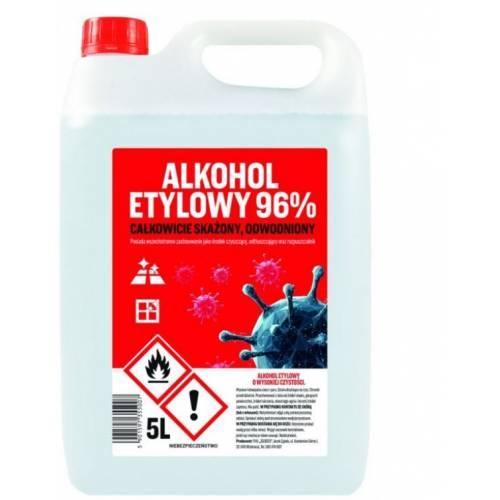 ALKOHOL ETYLOWY SKAŻONY 96% 5L