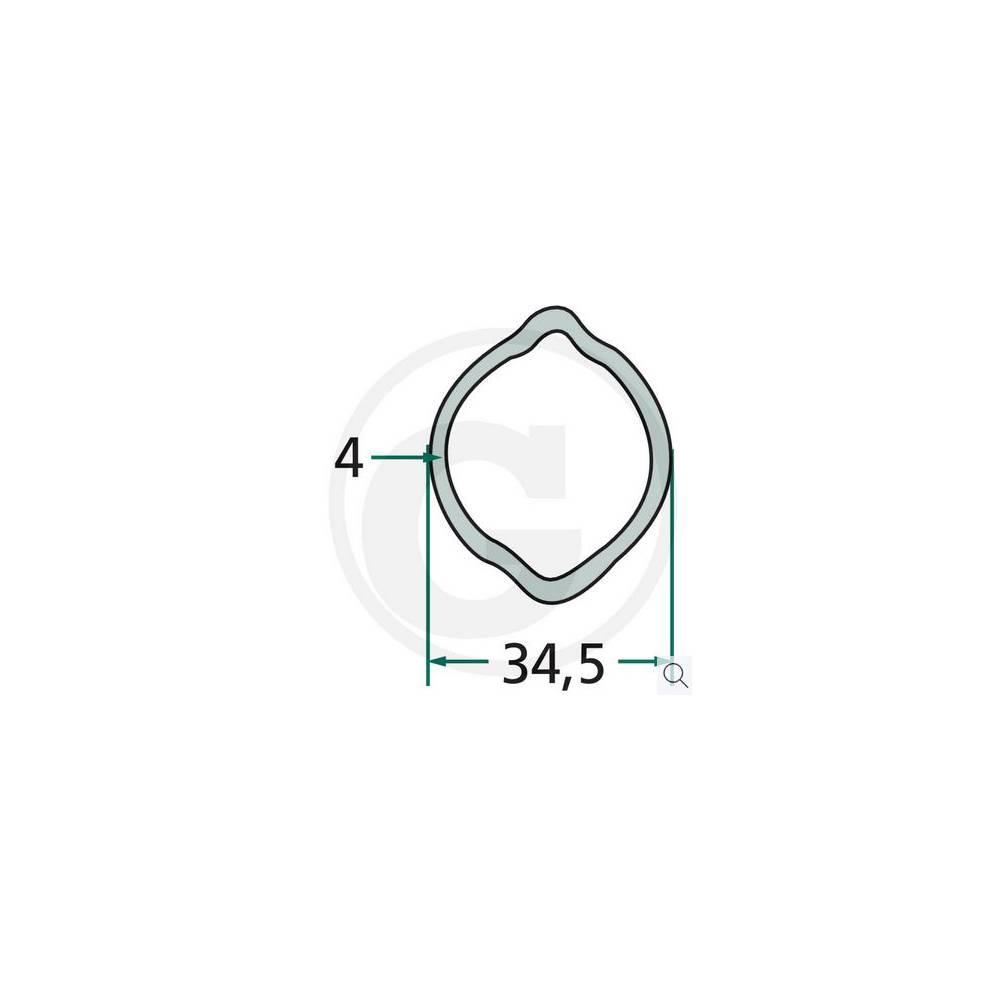 RURA PROFILOWA CYTRYNA GRUBOŚĆ 4mm FI-34,5mm