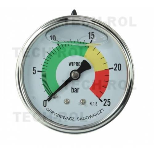 Manometr glicerynowy 0-25 bar, fi-63 mm; tylny